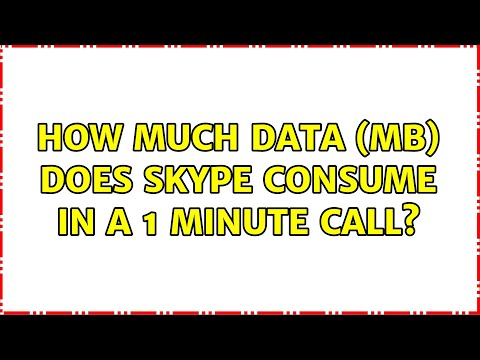 How much data (MB) does Skype consume in a 1 minute call? (3 Solutions!!)