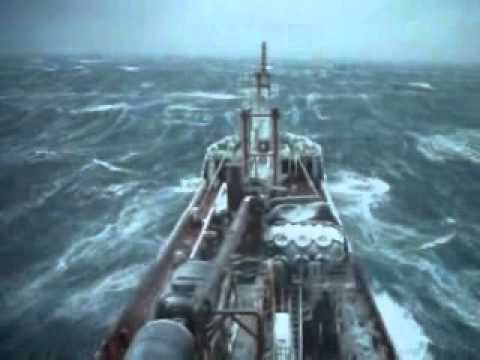 Storm in Okhotsk sea
