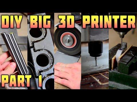 DIY Big 3D Printer - Parts Making - Part 1/3
