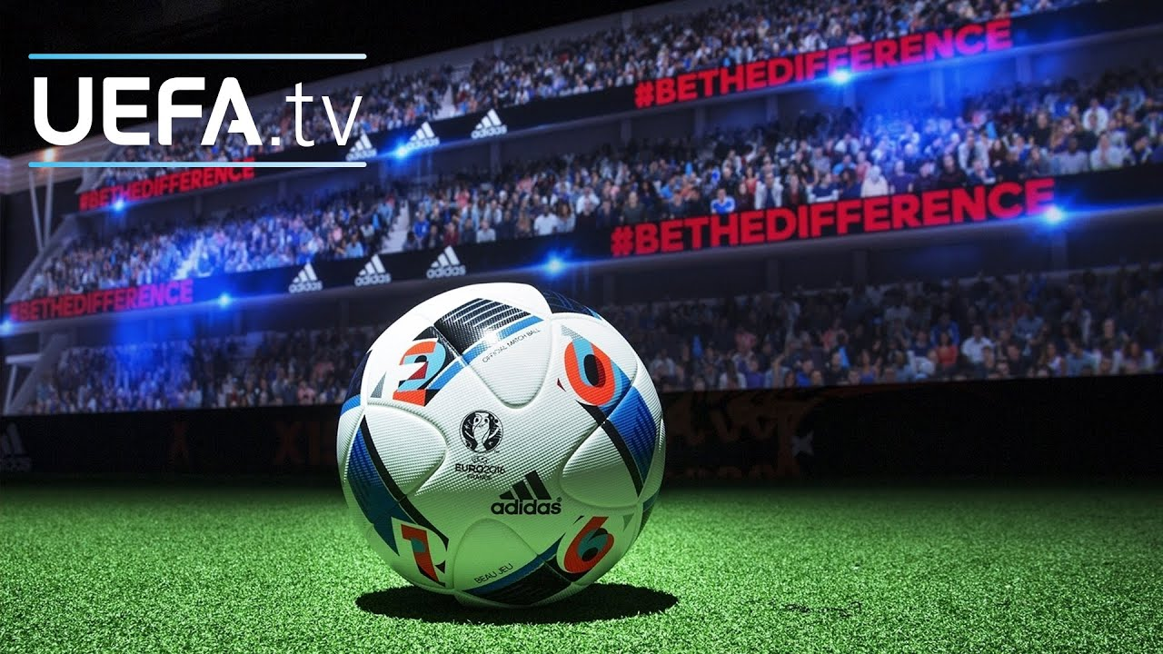see the official uefa euro 2016 match ball up close youtube. Black Bedroom Furniture Sets. Home Design Ideas