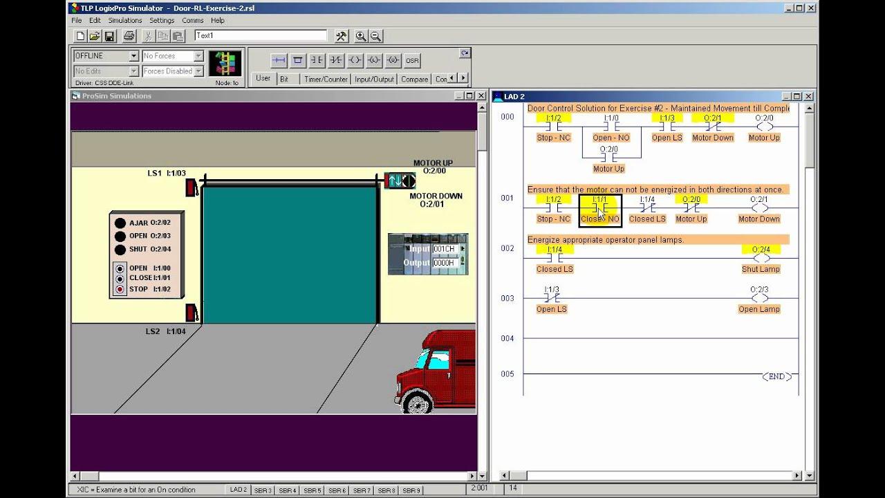 Plc Garage Door Program Basic Ladder Programming Example 15 With Wiring Diagram