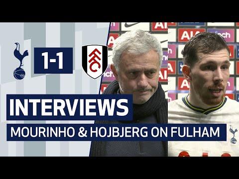 INTERVIEWS   Mourinho and Hojbjerg on Fulham Draw