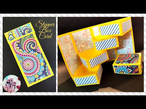 Stepper Box Card | How to make Tower box Card | Raksha Bandhan Special Gift Box