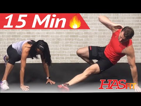 15 Min HIIT Abs: Home Cardio Abs Exercises to Lose Belly Fat Workout without Equipment Men & Women
