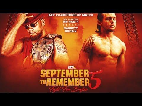 WFC 09-09-2017 WFC Heavyweight Champion Mr. Nasty v Barrett Brown