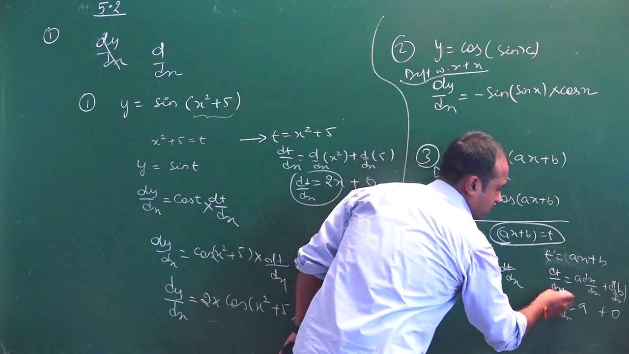 NCERT 12 Maths Ch 5 Continuity & Differentiability Ex 5.2 hints ...