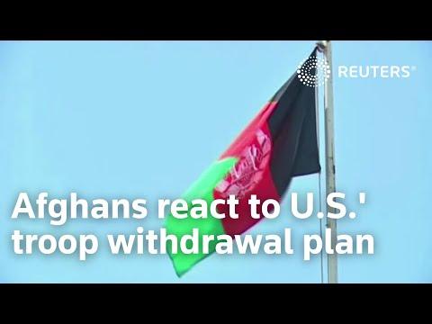 Afghans react to U.S.' troop withdrawal plan