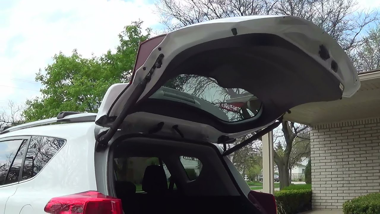 2013 Toyota Highlander >> Aftermarket power liftgate installation - YouTube