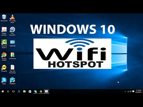 How i create hotspot in laptop