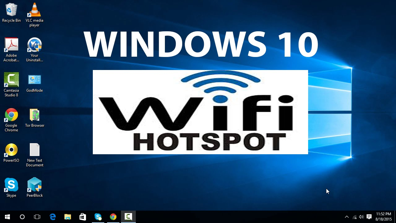Step 1: To Create WiFi Hotspot in Windows 8,8.1, Windows 7 PC