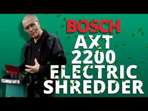 Bosch Axt 2200 Rapid Electric Shredder First Look Youtube