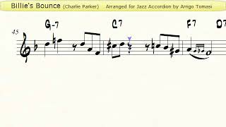 Billie's Bounce - Jazz Accordion Sheet music