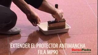 Proteccion antimanchas para marmoles pulidos.