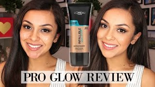 l oreal pro glow foundation review demo trinaduhra