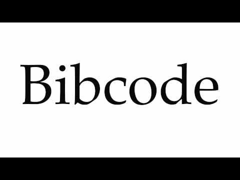How to Pronounce Bibcode
