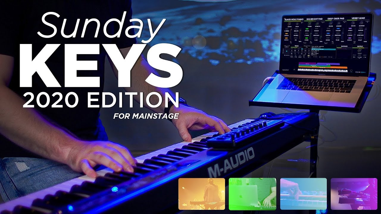 Best Midi Keyboard 2020.Introducing The Sunday Keys Mainstage Template 2020 Edition