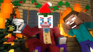 Monster School: Joker Xmas Apocalypse - Minecraft Animation