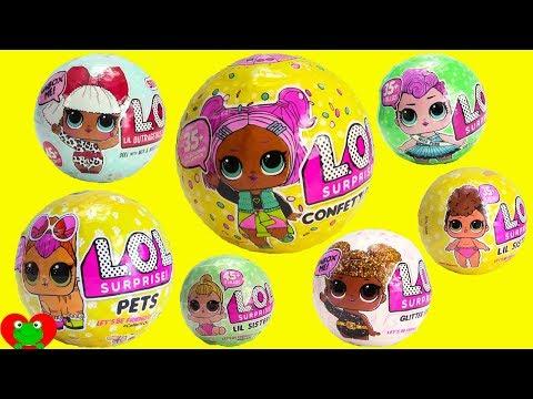 LOL Surprise Dolls Confetti Pop Series 3, Glitter, Pets, Lil Sisters, Series 1, 2, 3