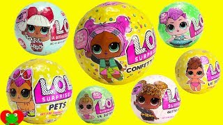 LOL Surprise Dolls Confetti Pop Series 3, Glitter, Pets, Lil Sisters, Series 1, 2, 3