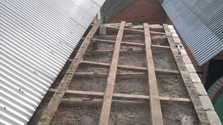 делаем крышу крышу пристройки своими руками часть 1