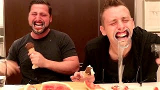 One of Alex Mandel Vlog's most viewed videos: MOUTHGUARD CHALLENGE WITH ROMAN ATWOOD