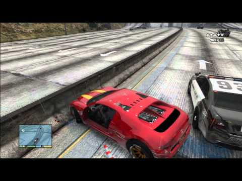 GTA 5 STUNT CRASH EXPLOSION