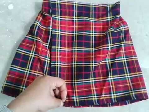 216ef668d6864 Falda escolar  como hacer uniforme paso a paso - YouTube