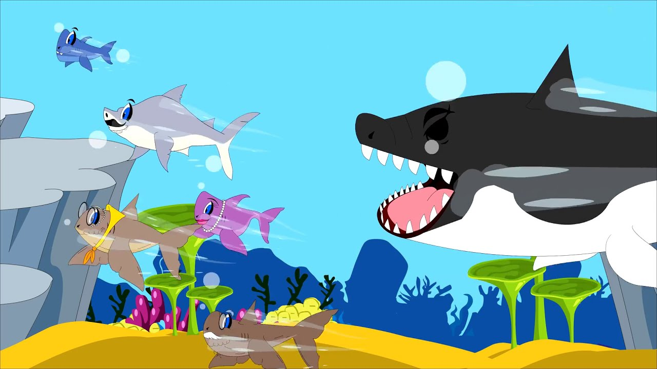 Baby shark and Family - Underwater Songs for Children