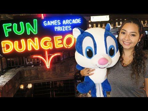 Fun Dungeon arcade at the Excalibur Hotel in Las Vegas!