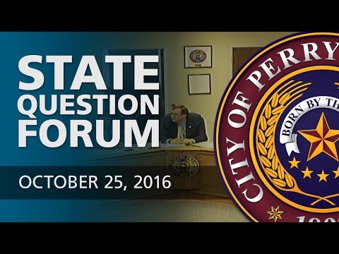 State Question Forum - October 25, 2016