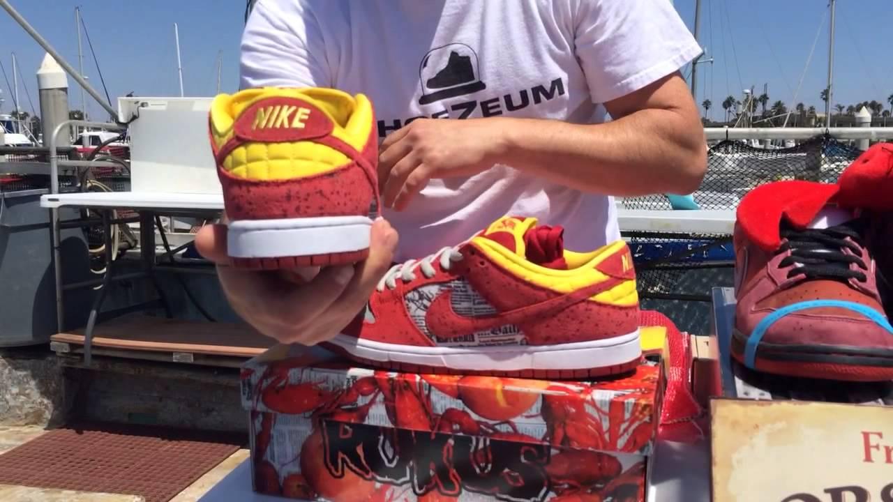 ShoeZeum Rukus Crawfish Nike Dunk SBs