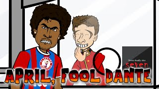 MULLER April Fool's DANTE (Brazil vs Germany 1-7 2015 Troll Football Cartoon 7-1)