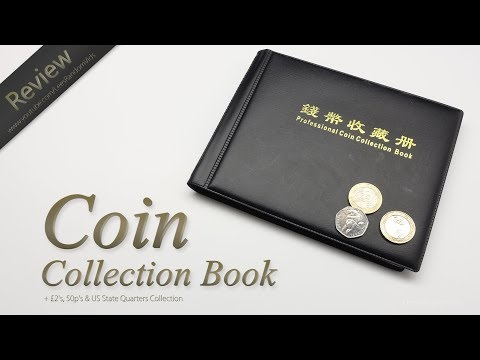 Professional Coin Collection Book Review + UK £2, 50p & US State Quarters Coin Collection