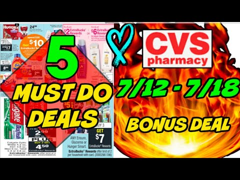 5 MUST DO CVS DEALS (7/12 – 7/18) | GRAB 16 ITEMS FOR FREE!!!