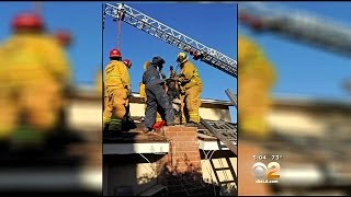 Firefighters Use Liquid Soap To Rescue Woman From Thousand Oaks Chimney