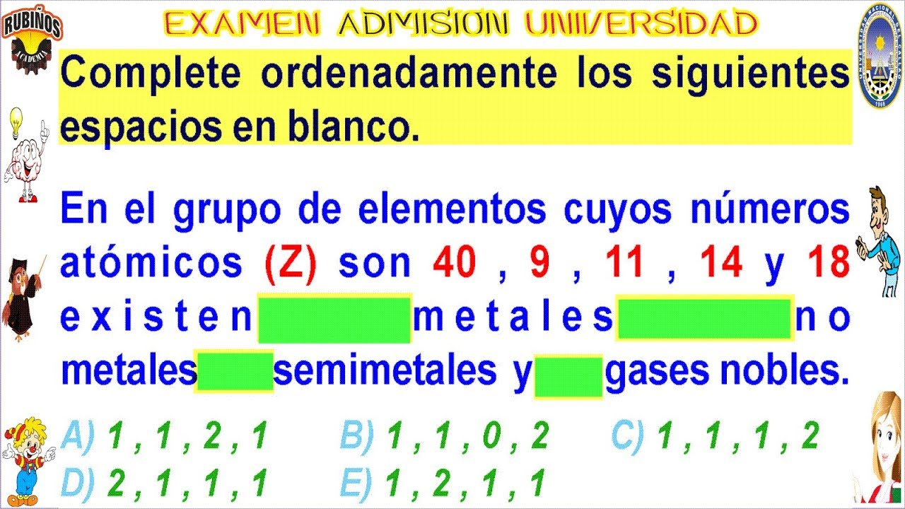 Examen admisin a la universidad callao tabla peridica qumica examen admisin a la universidad callao tabla peridica qumica solucionario unac urtaz Images
