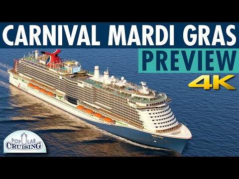 Mardi Gras Preview ~ Carnival Cruise Line ~ New Cruise Ship Deck Tour