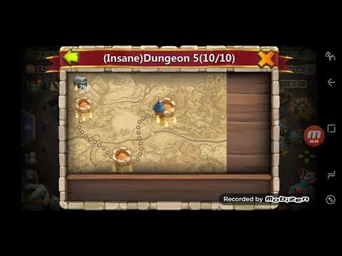 Castle Clash: 3 Flame Insane Dungeon 5-4