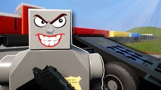 THE GREAT TRAIN HEIST! - Brick Rigs Multiplayer Gameplay - Lego Cops and Robbers