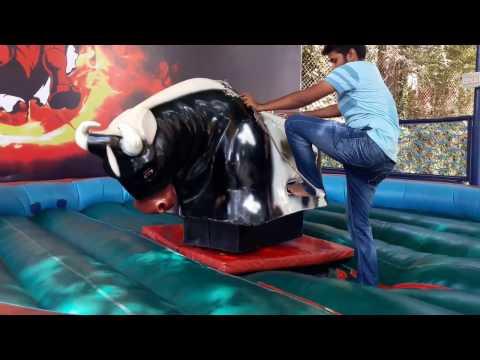 Bull ride in essel world (funny )
