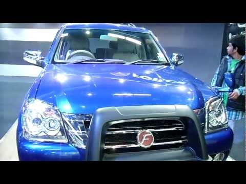 Force Motors Force One Blue SUV 4x2 5D at Auto Expo 2012, New Delhi, India