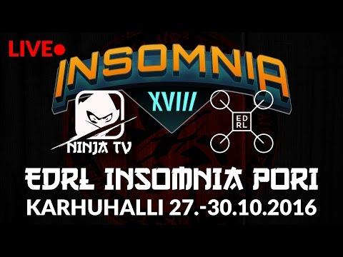 NINJA TV Live stream @ EDRL Insomnia XVIII Pori - part 1