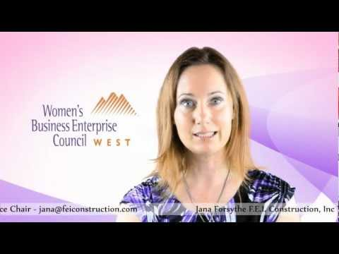Women Business Enterprise. WBEC-West Regional Forum Vice Chair Jana Forsythe