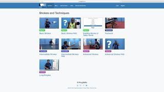 Website Walkthrough   Table Tennis   PingSkills
