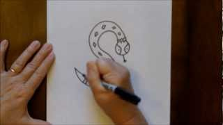 How To Draw A Snake Cartoon Step-by-Step Drawing Tutorial