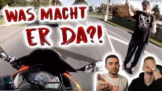 Motorradfahrer wird attackiert?