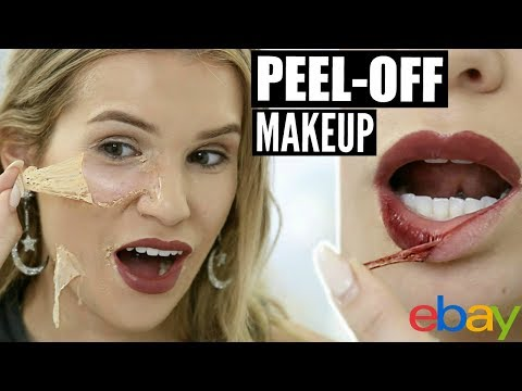 PEEL-OFF EBAY MAKEUP TESTED! | Korean Beauty Product HIT OR MISS?!