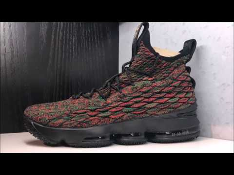 2afaa019f85 Nike Lebron 15 BHM Sneaker Review - YouTube