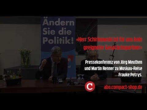 """AfD-Pressekonferenz: """"Schirinowski ist für uns kein geeigneter Gesprächspartner"""""""
