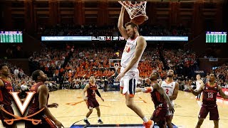 Virginia's Jay Huff Finishes Off The Hokies With Flair